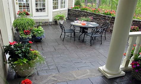 Patio Design Ideas On A Budget by Back Patios Patio Ideas On A Budget Concrete Back Porch