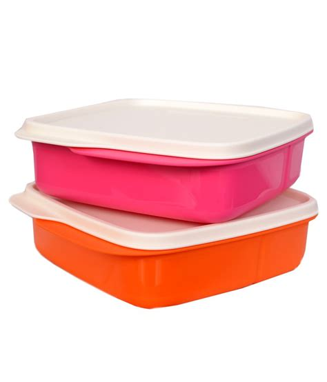 tupperware lunch box tupperware multicolor lunch box pack of 2 buy online at