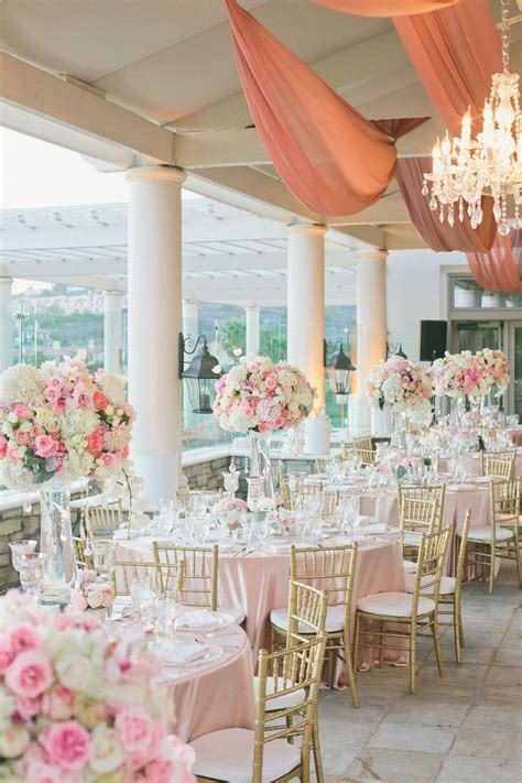 Romantic Pink   White Wedding at St. Regis Monarch Beach