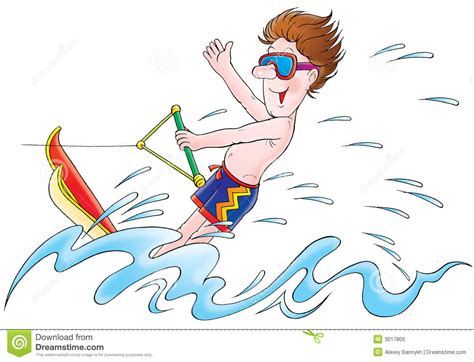 cartoon boat ski water skiing clipart clipart suggest