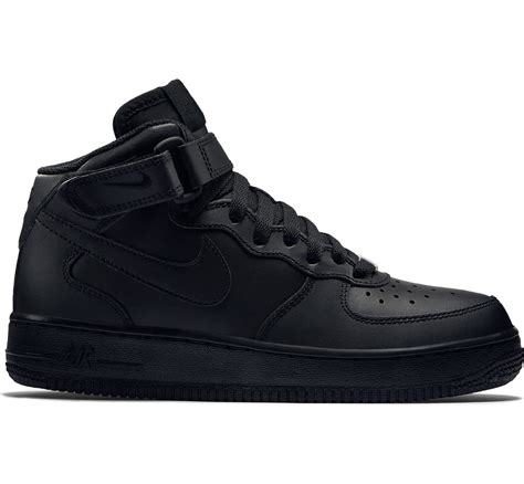 Jual Nike Air 1 Black nike air 1 mid youth gs shoes black