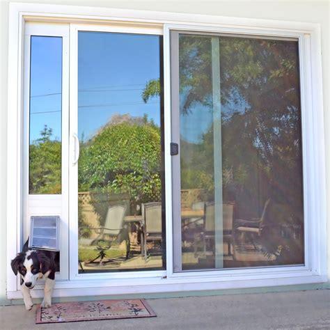Pet Patio Door Endura Flap Pet Door Thermo Panel 3e White Frame Large 93 25 Quot 96 25 Quot