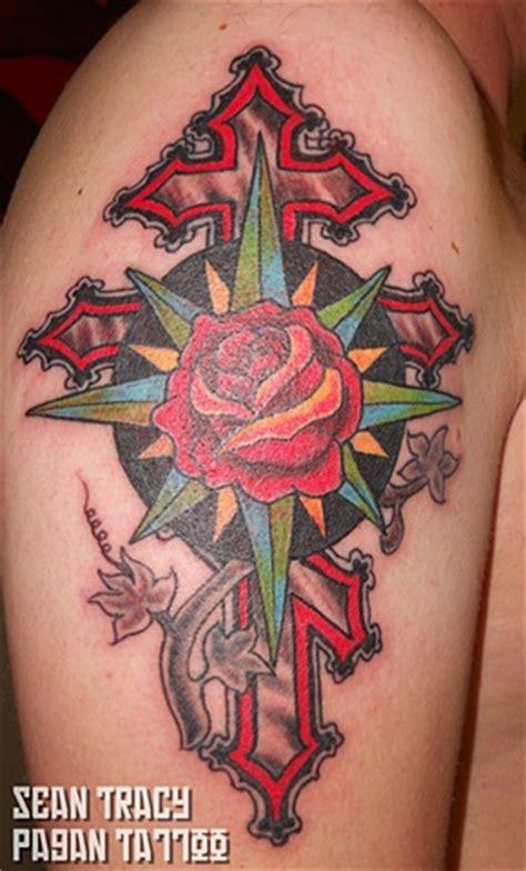 compass tattoo russian ukrainian cross tattoos pinterest compass rose