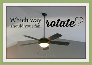 which way should your ceiling fan rotate