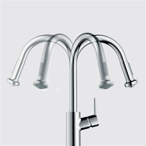 hansgrohe talis kitchen faucet hansgrohe 04870 talis s higharc kitchen faucet with