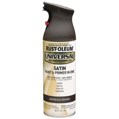 shop rust oleum universal espresso brown rust resistant enamel spray paint actual net contents