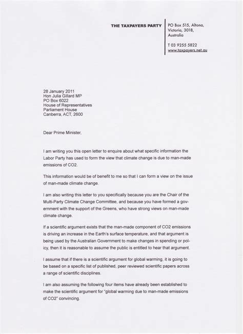 Open Letter To by Gillard The Taxpayers
