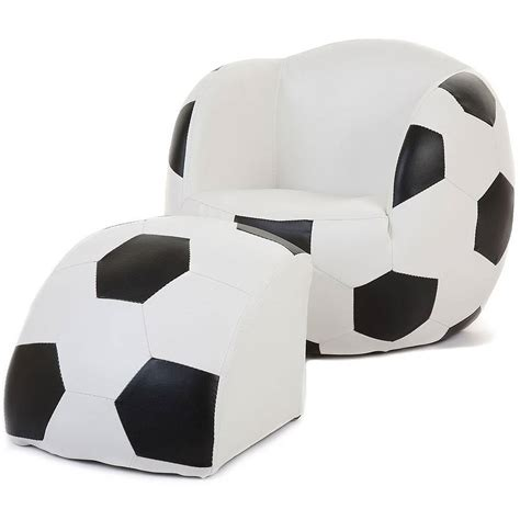 kids football chair and ottoman kids football chair with foot stool by hibba toys of leeds