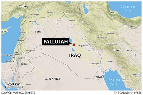 map of iraq fallujah canada now involved in fight against but are
