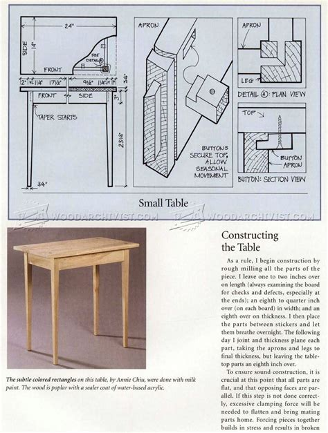 simple side table plans simple side table plans woodarchivist
