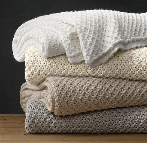 knitted bed throw pattern textural knit oversized bed throw from restoration hardware
