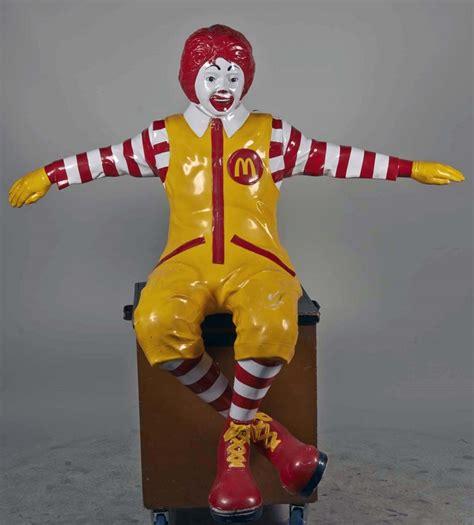 ronald mcdonald bench life size ronald mcdonald bench sitter statue