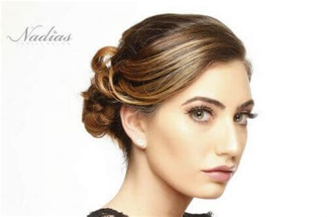 Formal Hairstyles For Hair With Bangs by The 25 Most Beautiful Updos For Medium Length Hair