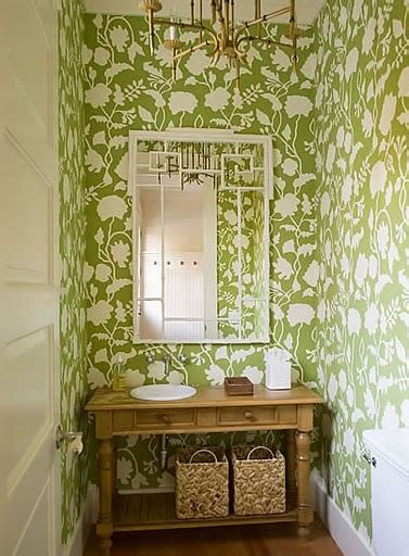 green powder room turquoise tulips and bliss wednesday s wallpaper wonders