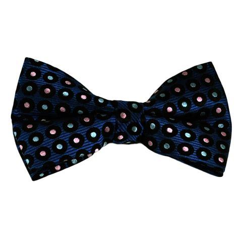 Polka Dot Bow Tie royal blue navy blue colourful polka dot silk bow tie
