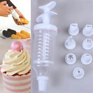4 sets icing piping nozzles pastry tips display bag cake