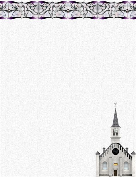 printable religious stationery best photos of free church letterhead templates exles