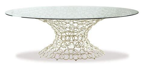tavolo ovale in vetro tavolo ovale base in metallo piano in vetro idfdesign