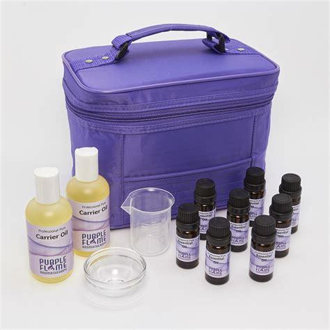 kits uk 25 essential aromatherapy starter kit purple