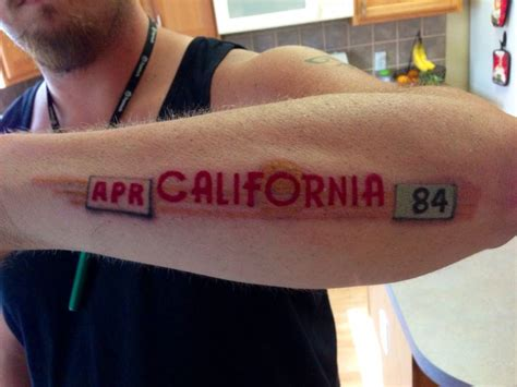 tattoo license california 1984 license plate rich tattoos