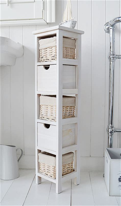 narrow drawers for bathroom slim 20 cm wide cape cod white bathroom narrow storage