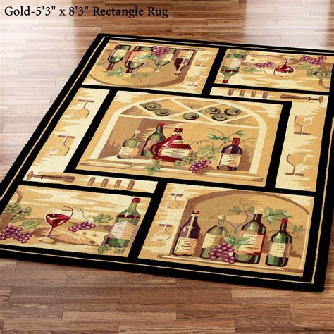 Wine Kitchen Rugs Wine Bottle Area Rugs