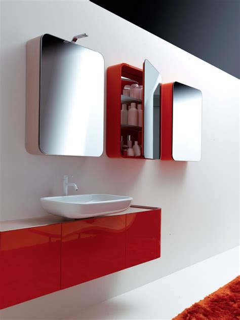 red bathroom cabinets contemporary bathroom design in red and white home trendy