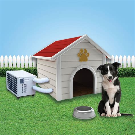 outdoor dog house air conditioner climateright and veterinarians partner to keep outdoor pets cool and safe with dog