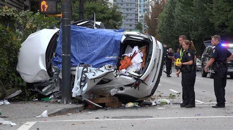 horrific car crashes on horrific fatal car crash seymour st dave st vancouver