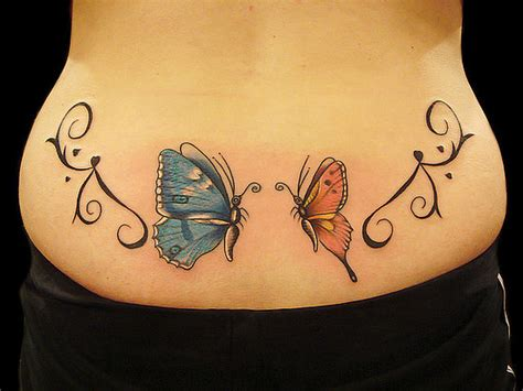 butterfly tattoo for lower back butterfly tattoos and designs page 567