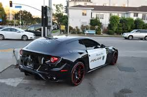 Black Mustang Registry Beverly Hills Gets Ferrari Ff Police Car Autofluence Com