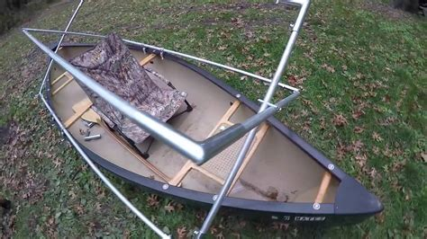 duck boat setup how to build a scissors style pop up duck blind on a canoe