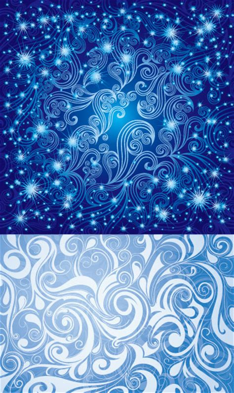 pretty blue pattern vector   vectorpsdflash