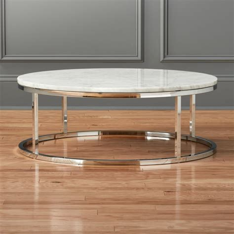 smart marble top coffee table cb2