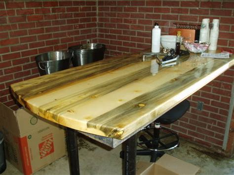 beetle kill pine dining table  countertop