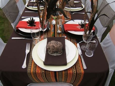 wedding table settings pictures south africa themed tablescape tablescapes table settings africans tablescapes and
