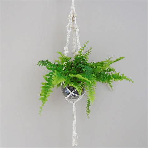 Macrame Hanging Planters - macrame hanging planter by the den now