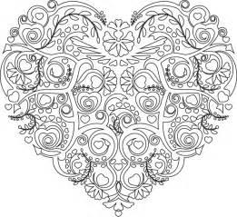Coloriage Mandalas Attrape Reve Coeur Mandala Pinterest Mandalas Coeur Et Coloriage L L L L L