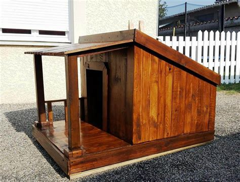 how to build a wooden dog house step by step pallet dog house step by step plan diy crafts
