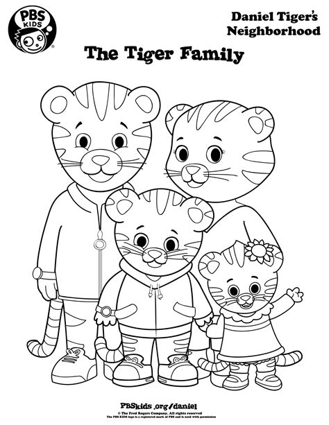 coloring page daniel tiger daniel tiger coloring pages best coloring pages for