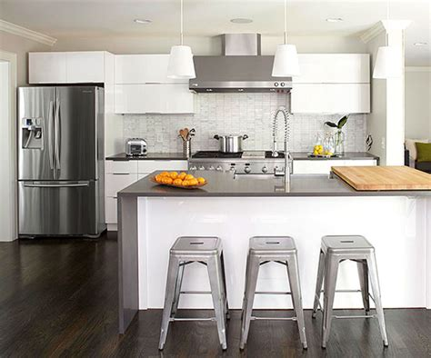 What Color Walls With Gray Cabinets by White Kitchens We Love
