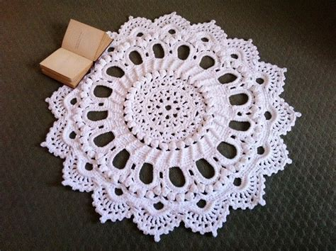 mega doily rug pattern 1000 images about crochet doily rugs on