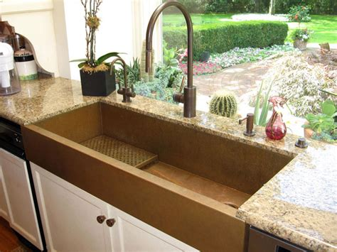 large copper apron front sink by rachiele eclectic