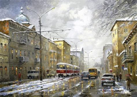city landscape paintings  dmitri spiros art  design
