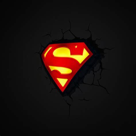 dc comics batman superman 3d wall lights nightlight