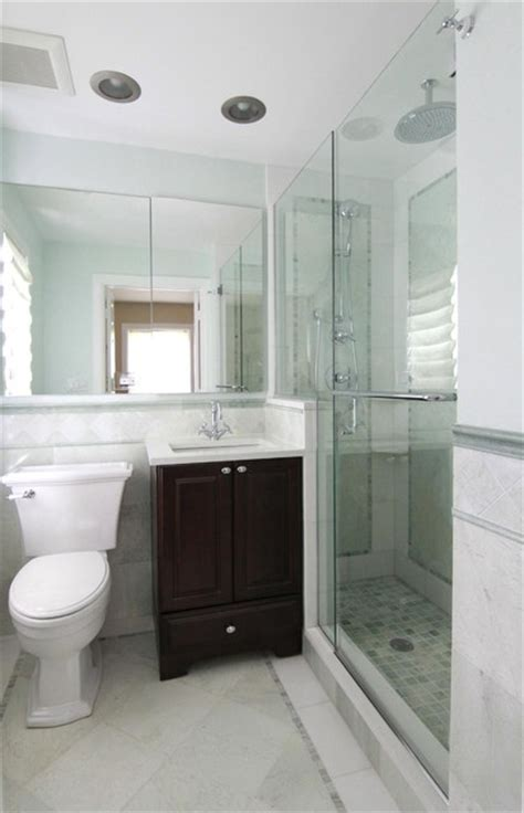 Small Master Bathroom Ideas Pictures Evanston Small Master Traditional Bathroom Chicago By Angela Murphy