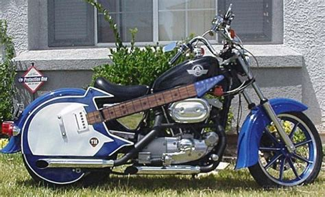 guitar motorcycle totally rad choppers