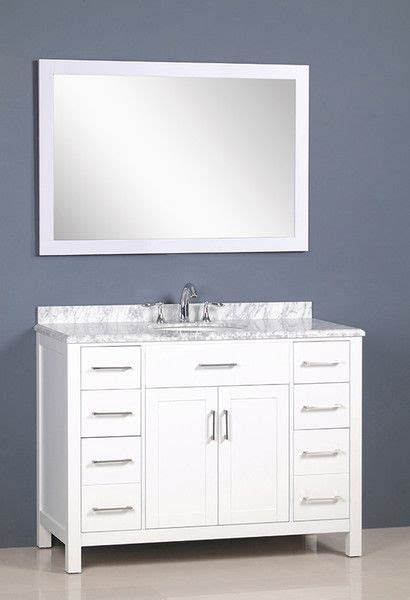 white bathroom vanity canada carrera golden elite 48 quot white transitional bathroom
