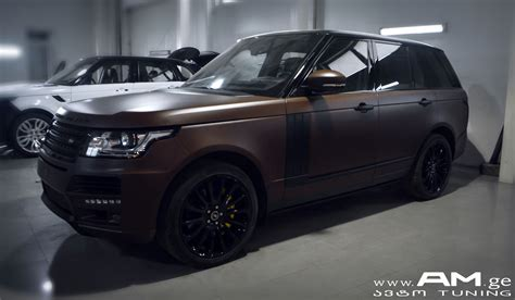 brown range rover range rover brown matte car wrapping auto am ge
