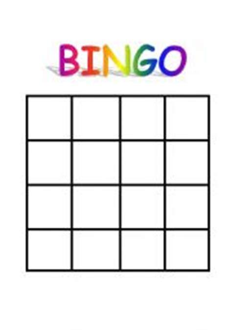 english worksheets: bingo sheet